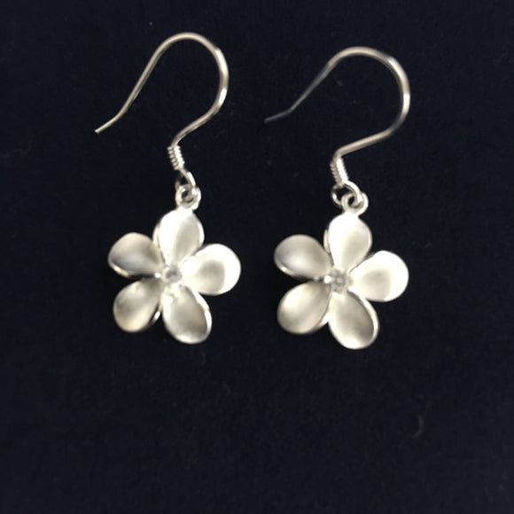 plumeria dangling earrings