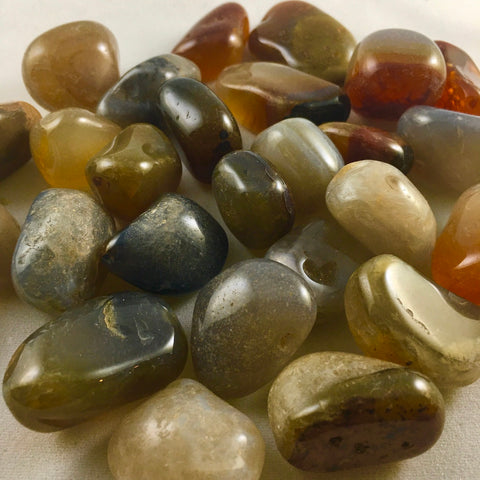 BROWN AGATE TUMBLED STONE
