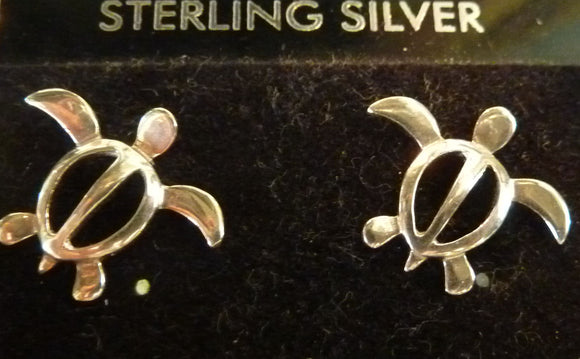 STERLING SILVER TURTLE EARING STUDS