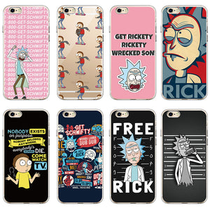 Rick And Morty Soft Clear Phone Cases for iPhone and Samsung!