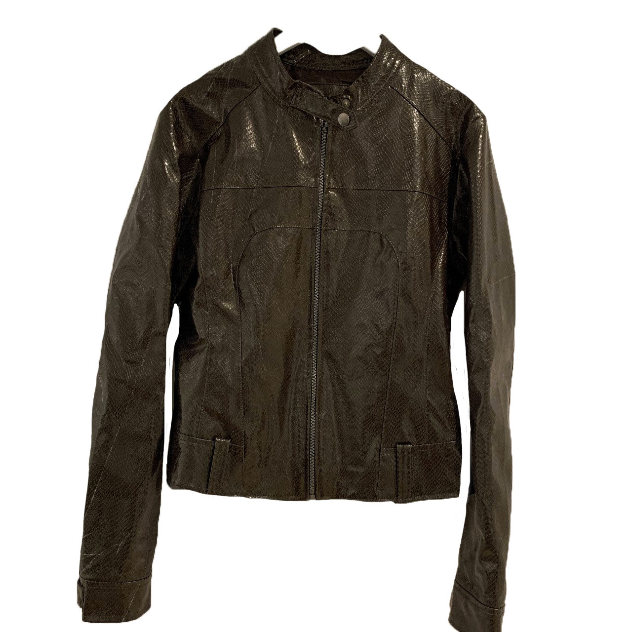 Y2K Choco brown motto pleather