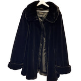 JET BLACK FAUX FUR