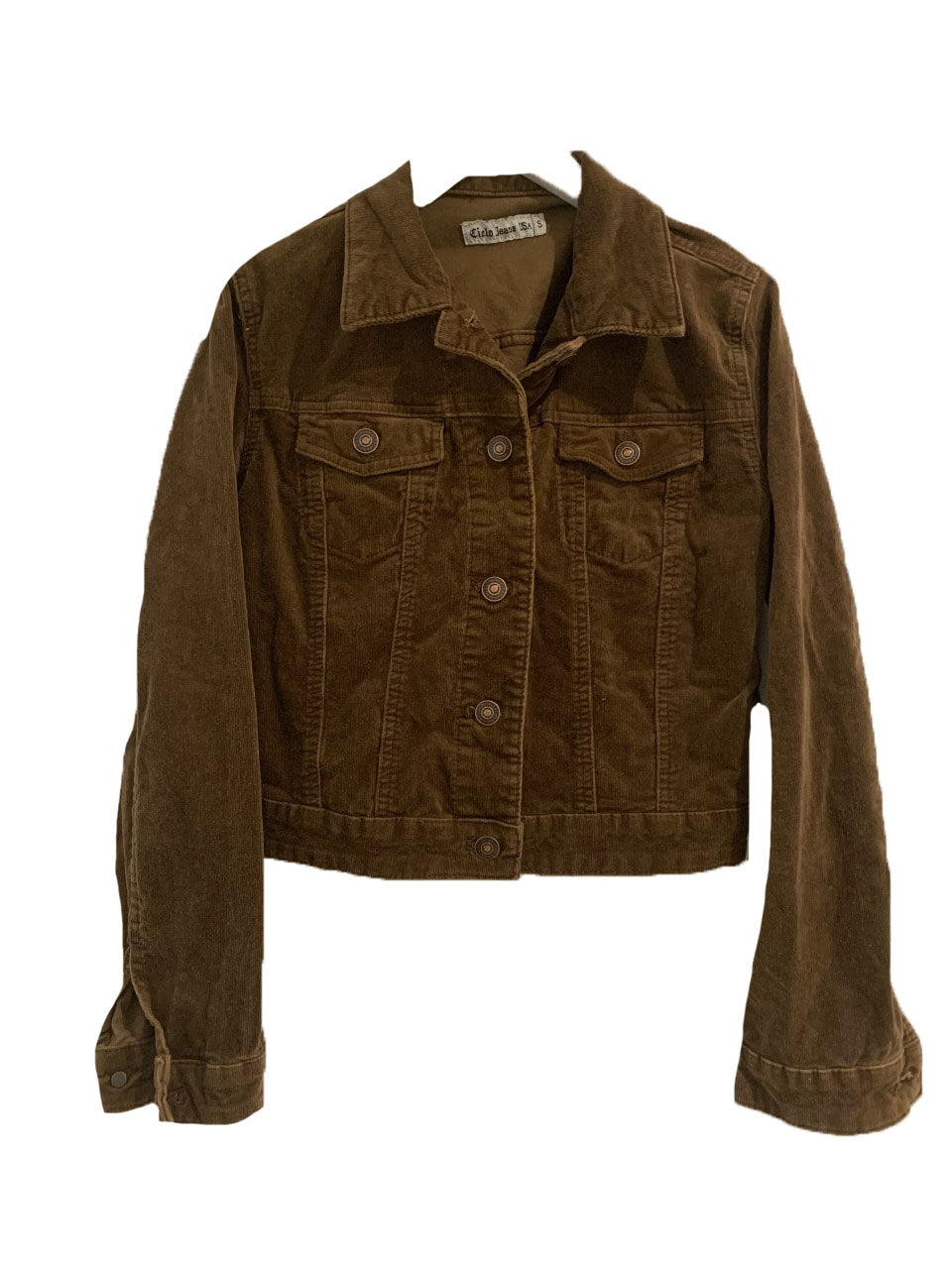 Expresso brown corduroy jacket