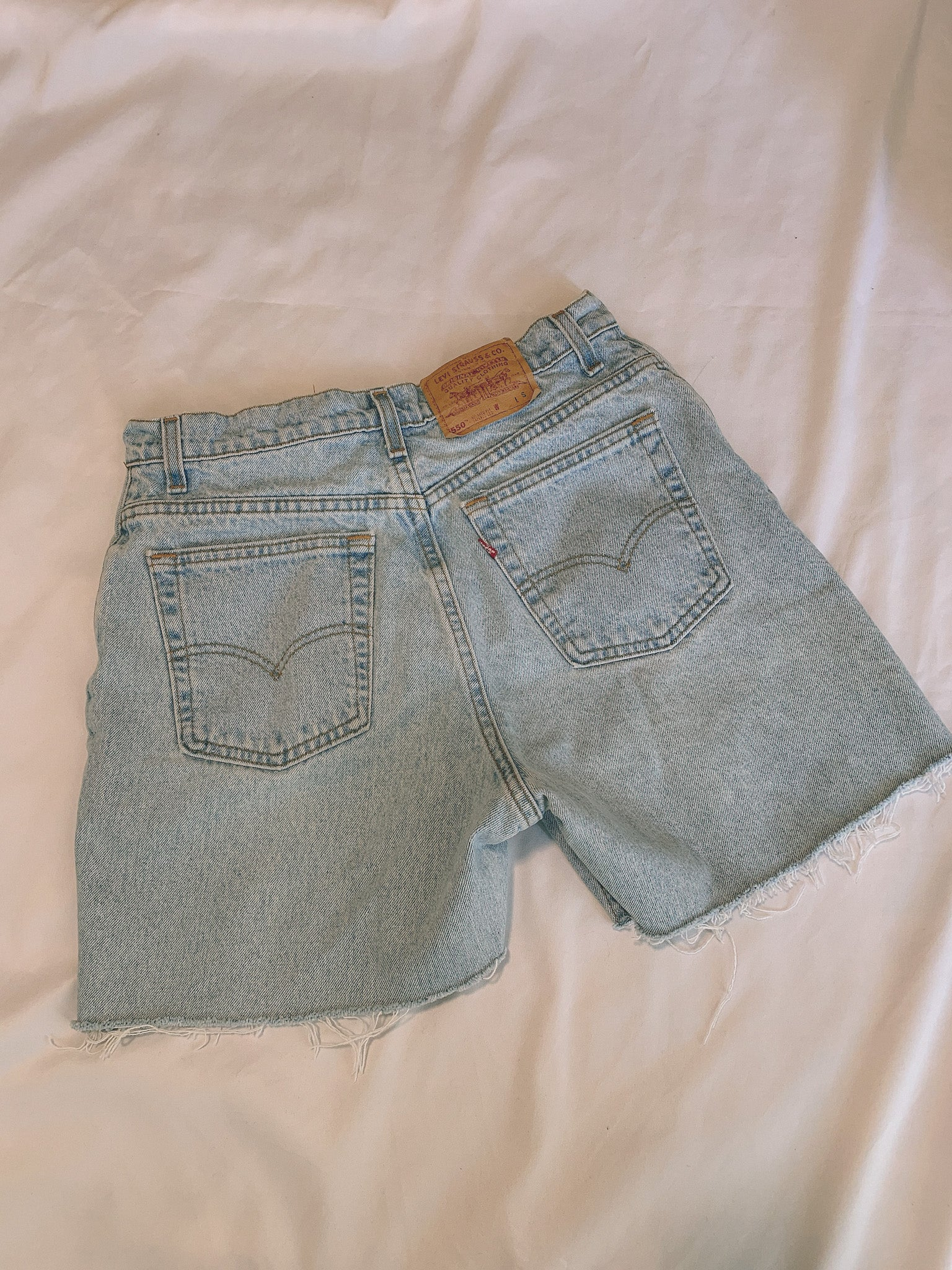 Levi's cool girl denim shorts