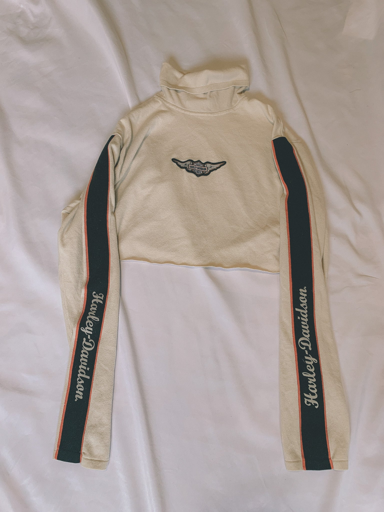 Harley Davidson cropped turtle neck