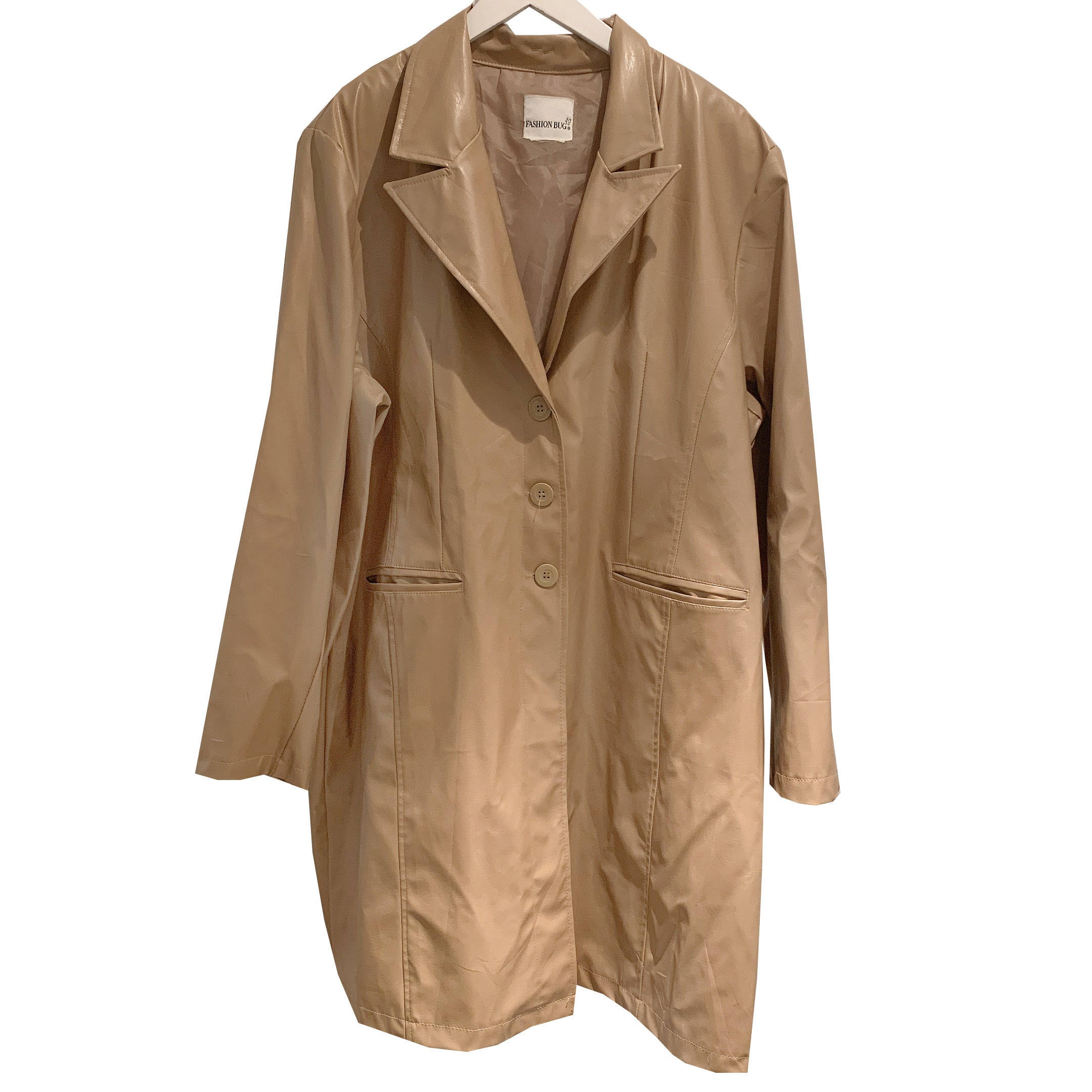 Nude pvc wet coat