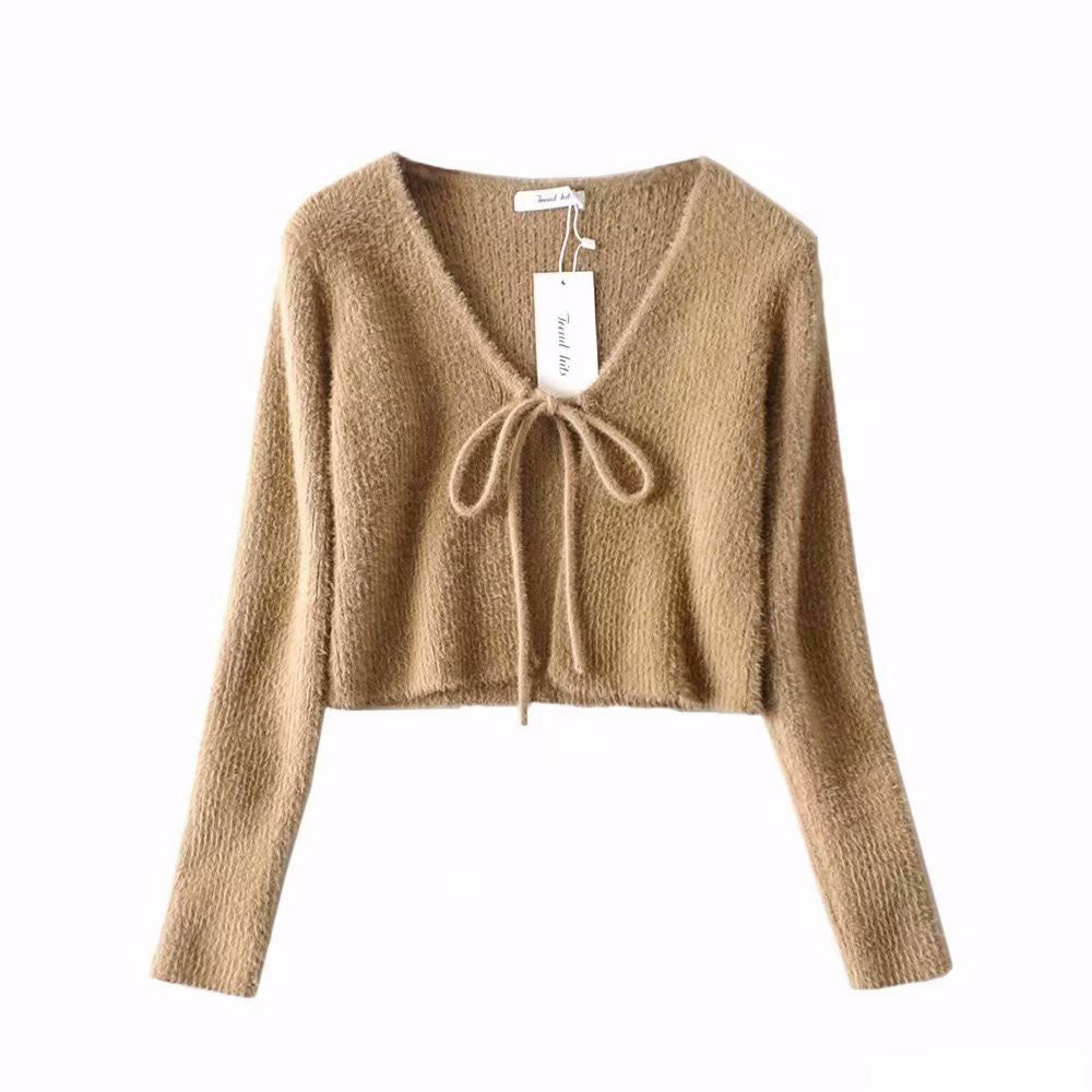 Teddy Cardigan in light brown