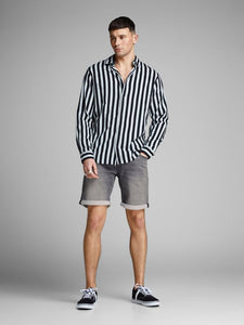 Jack & Jones Cion Grey Denim Shorts