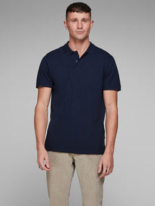 Classic Slim Jack Jones Polo Shirt Navy