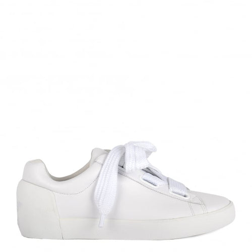 ASH NINA - Trainers White Leather & Chunky Knit Lace