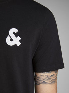 Jack Jones Black Logo T Shirt