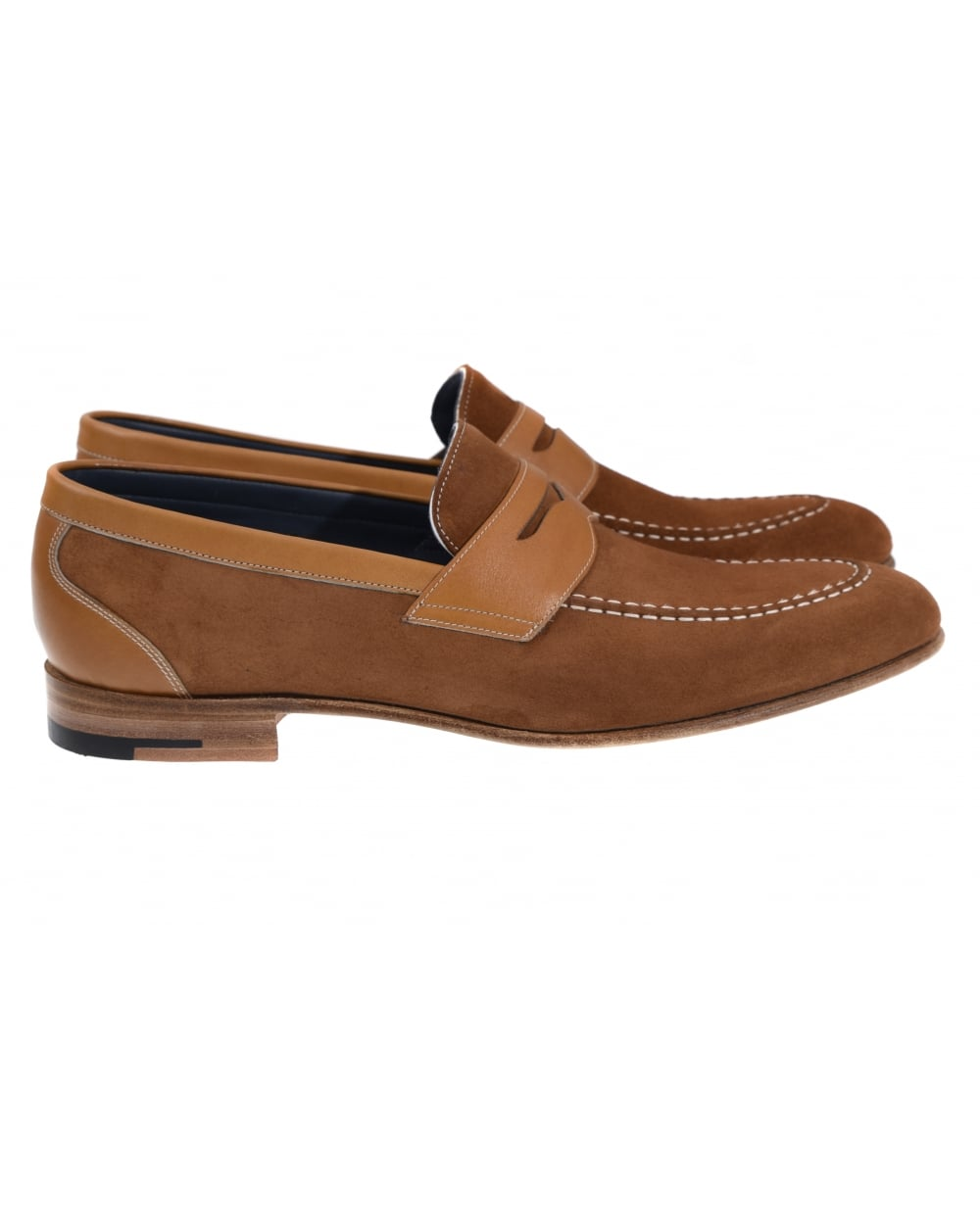 Barker - Dodmoor Cedar Calf and Suede Slop On