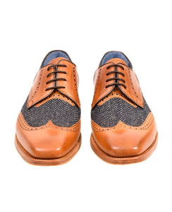 Barker - Jackson Calf/Blue Tweed