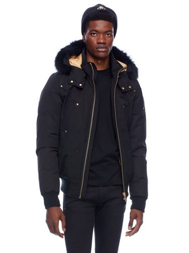 Moose Knuckles Comeau Bomber Black With Gold lining