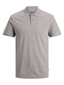 Jack & Jones Basic Slim Fit Polo Shirt Grey