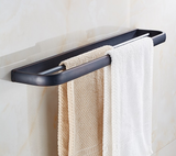 Oil Rubbed Modern Double Towel Rail #201929