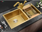 Double Gold Kitchen Sink #1602