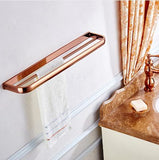 Rose Gold Double Towel Rail #201915