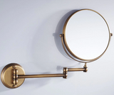 Double Sided Magnification Vanity Mirror - Wall Mount Brass #201819
