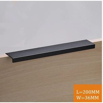 Matt Black Long Door Handle #19020