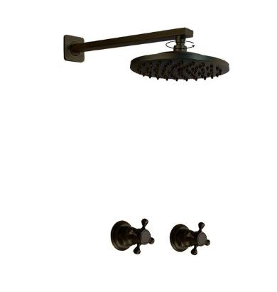 Antique Black Concealed Shower #20165