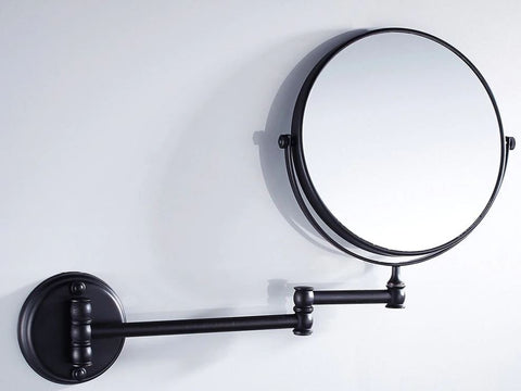 Double Sided Magnification Vanity Mirror - Wall Mount Oil Rubbed Black #201859