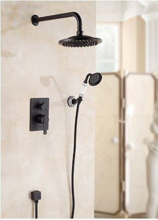 Black Shower Unit with hand shower #20164