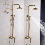 Wall Mounted Brass Shower With Hand Shower #201725