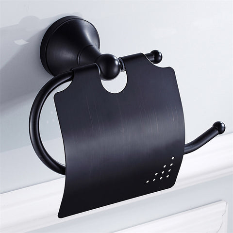 Black Toilet Roll Holder #20191