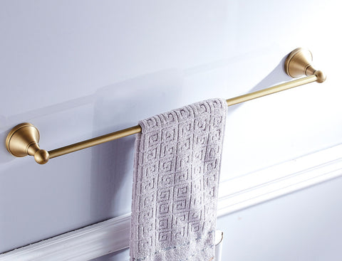 Single Towel Rail Brass #20184