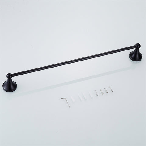 Black Single Towel Rail #20194