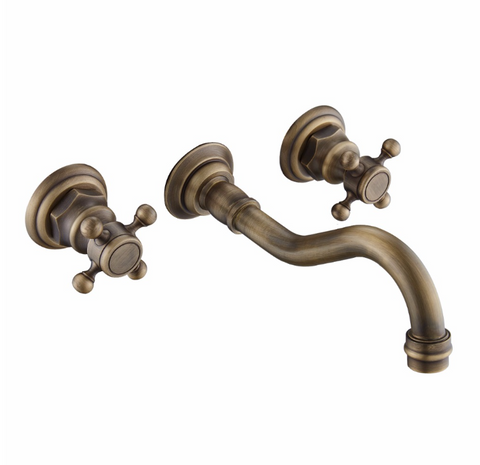 Brass wall Mount Mixer 3 Piece #201747