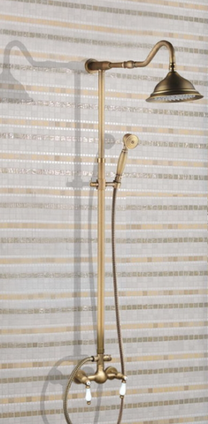 Wall Mounted Brass Shower with Ceramic Handle #201746