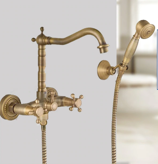 Brass Wall Mount Mixer with hand shower #201783