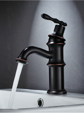 Black Retro Basin Mixer #201752