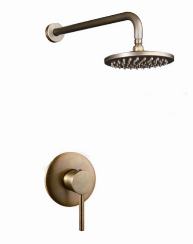 Brass Shower Unit with Round Handle #20163