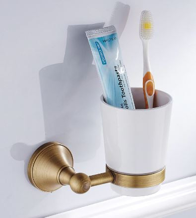 Toothbrush Holder Brass #20187