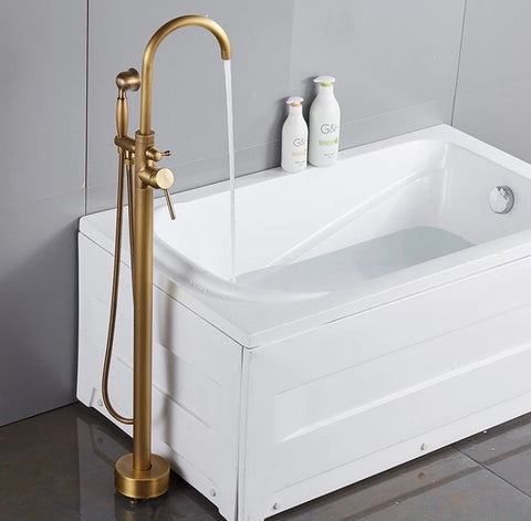 Brass Freestanding Modern Bath Mixer #201832