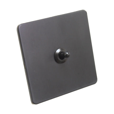 Antique Black 1 Gang Toggle Wall Switch