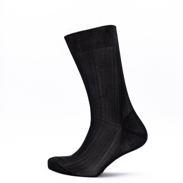 Pantherella Smoking Socken – Baffin, Schwarz