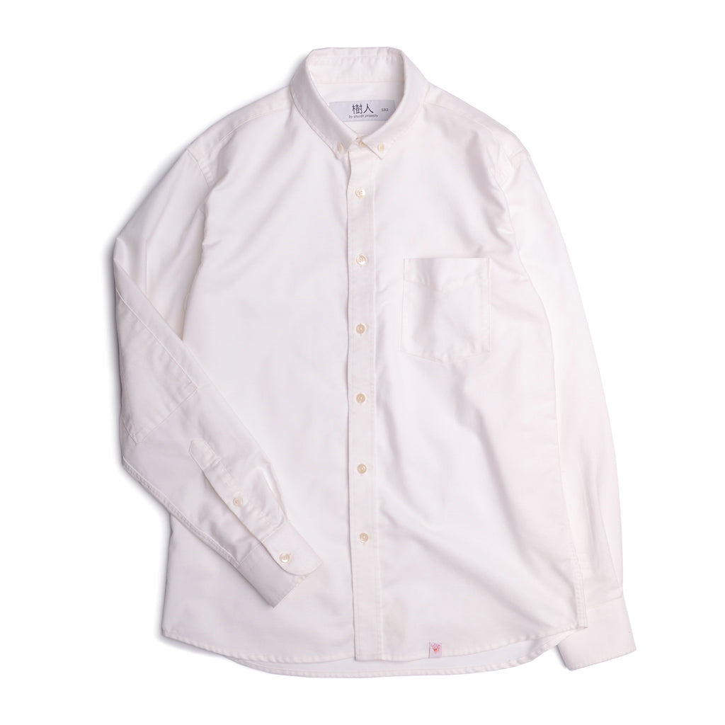 Washed Oxford Shirt - white