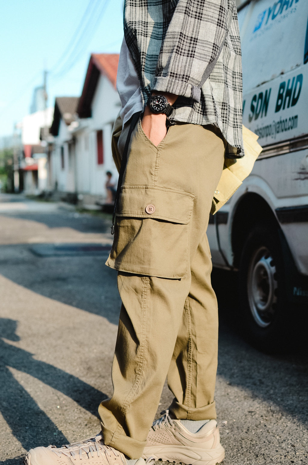 Side Pockets Pants - Khaki