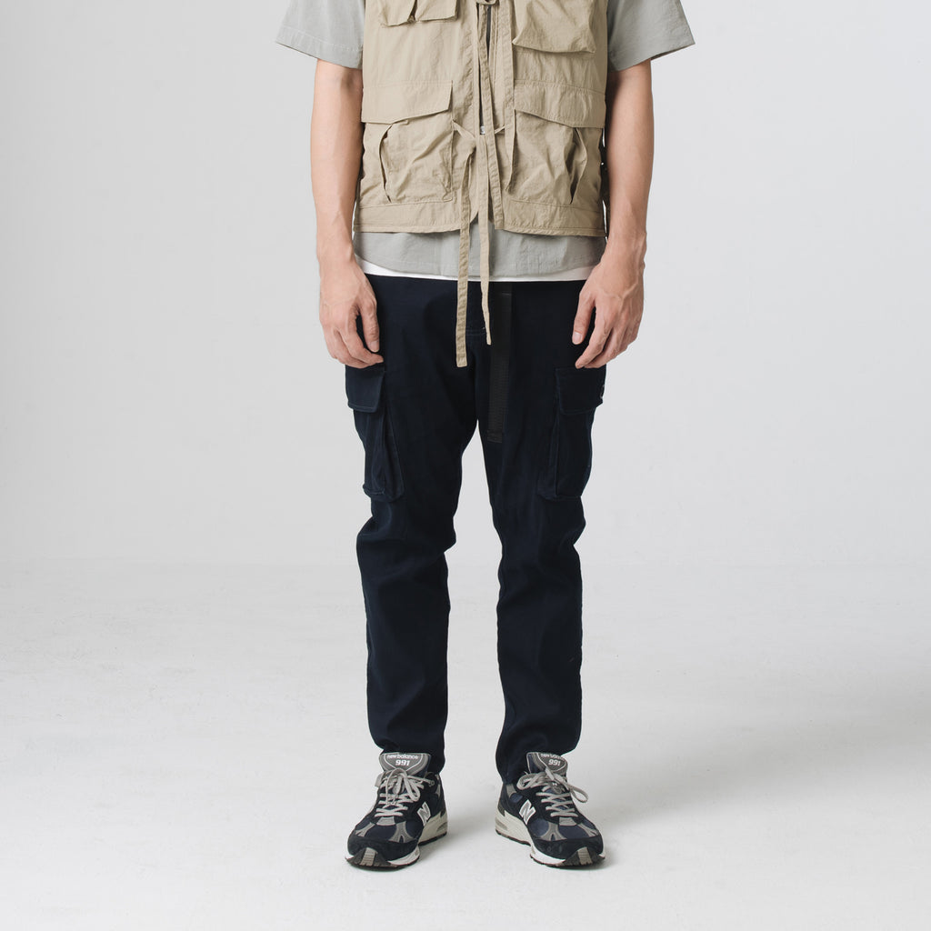 Side Pockets Pants - Navy