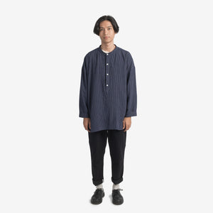 LS Striped Shirt - navy