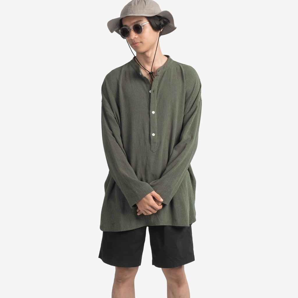 LS Striped Shirt - green