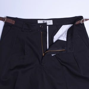 Platonic Pants Wide Cut - black
