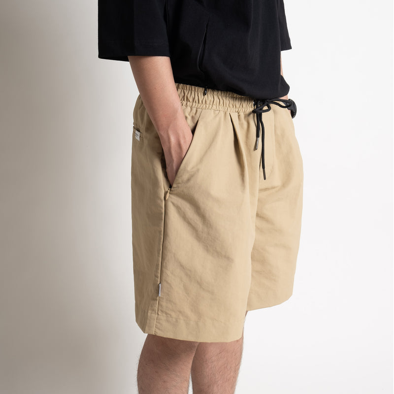 Pleated Shorts - Beige