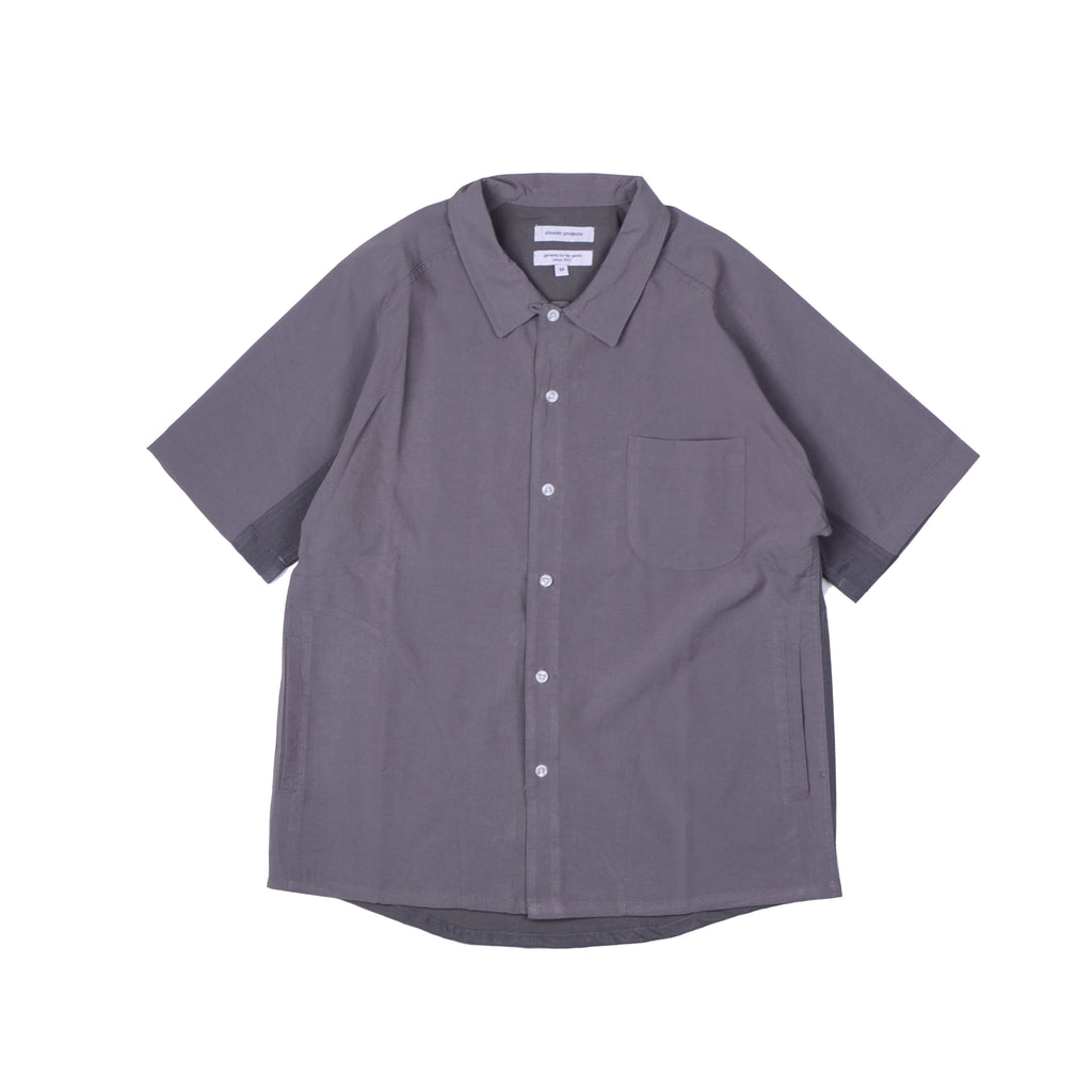 Contrast Panel Raglan Shirt - Grey/Grey