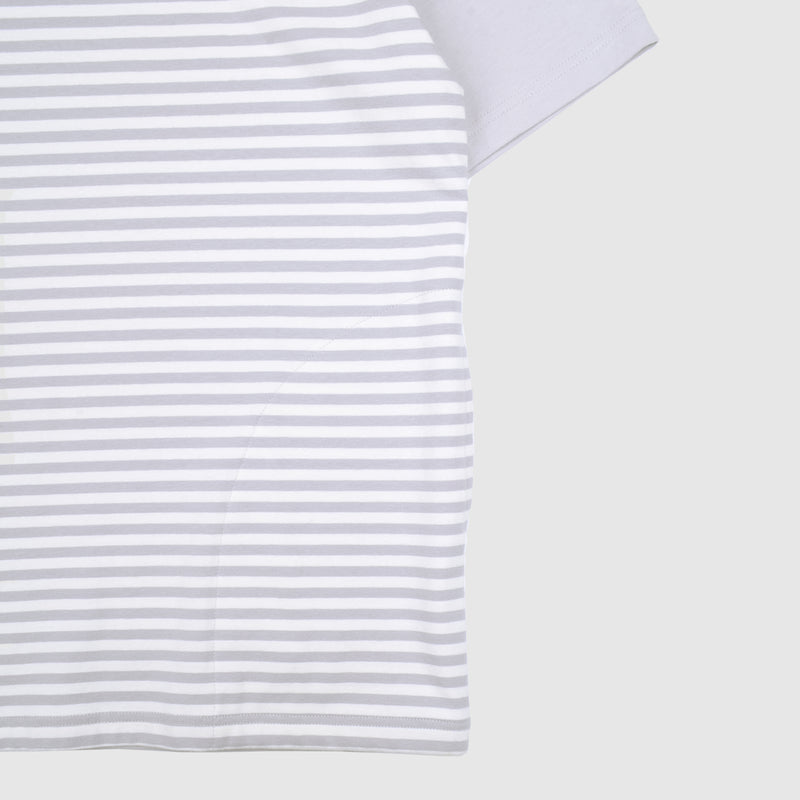 Stripe Panel Tee - Grey