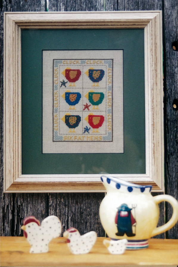Six Fat Hens Cross Stitch